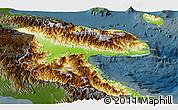 Physical Panoramic Map of Morobe, darken