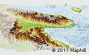 Physical Panoramic Map of Morobe, lighten