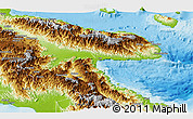 Physical Panoramic Map of Morobe