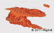 Political Panoramic Map of Morobe, cropped outside