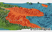 Political Panoramic Map of Morobe, satellite outside
