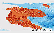 Political Panoramic Map of Morobe, single color outside