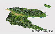 Satellite Panoramic Map of Morobe, cropped outside