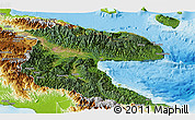 Satellite Panoramic Map of Morobe, physical outside