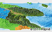 Satellite Panoramic Map of Morobe, political outside