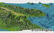 Satellite Panoramic Map of Morobe