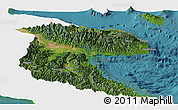 Satellite Panoramic Map of Morobe, single color outside