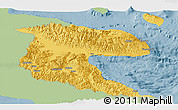 Savanna Style Panoramic Map of Morobe, single color outside