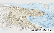 Shaded Relief Panoramic Map of Morobe, lighten