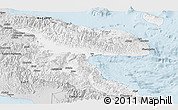 Silver Style Panoramic Map of Morobe