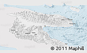 Silver Style Panoramic Map of Morobe, single color outside
