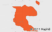 Political Simple Map of Morobe, cropped outside