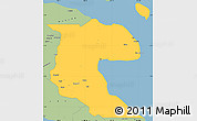 Savanna Style Simple Map of Morobe