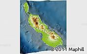 Physical 3D Map of Northern Solomons, darken