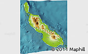 Physical 3D Map of Northern Solomons, satellite outside