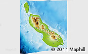 Physical 3D Map of Northern Solomons, single color outside