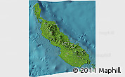 Satellite 3D Map of Northern Solomons