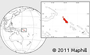 Blank Location Map of Northern Solomons