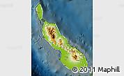 Physical Map of Northern Solomons, darken