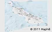 Gray Panoramic Map of Northern Solomons