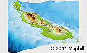 Physical Panoramic Map of Northern Solomons