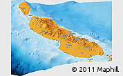 Political Panoramic Map of Northern Solomons