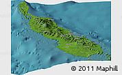 Satellite Panoramic Map of Northern Solomons