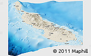 Shaded Relief Panoramic Map of Northern Solomons