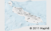 Silver Style Panoramic Map of Northern Solomons