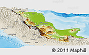 Physical Panoramic Map of Northern, shaded relief outside