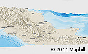 Shaded Relief Panoramic Map of Northern