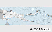 Gray Panoramic Map of Papua New Guinea