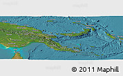 Satellite Panoramic Map of Papua New Guinea