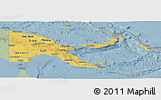 Savanna Style Panoramic Map of Papua New Guinea