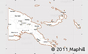 Classic Style Simple Map of Papua New Guinea, cropped outside