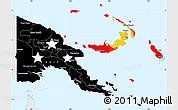 Flag Simple Map of Papua New Guinea, single color outside