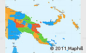 Political Simple Map of Papua New Guinea