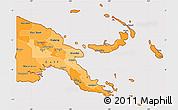 Political Shades Simple Map of Papua New Guinea, cropped outside