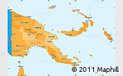 Political Shades Simple Map of Papua New Guinea