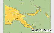 Savanna Style Simple Map of Papua New Guinea, cropped outside