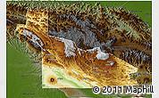 Physical 3D Map of Southern Highlands, darken