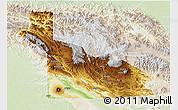 Physical 3D Map of Southern Highlands, lighten