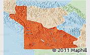 Political 3D Map of Southern Highlands, lighten