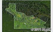 Satellite 3D Map of Southern Highlands, darken