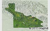 Satellite 3D Map of Southern Highlands, lighten