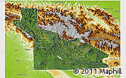 Satellite 3D Map of Southern Highlands, physical outside