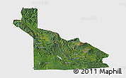 Satellite 3D Map of Southern Highlands, single color outside