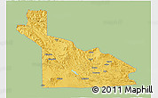 Savanna Style 3D Map of Southern Highlands, single color outside