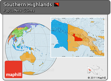 Free Political Location Map of Southern Highlands