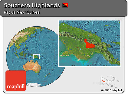 Free Satellite Location Map of Southern Highlands